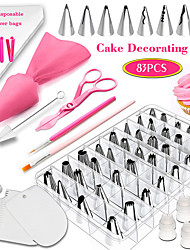 cheap -83Pcs Baking Set Set Cake Decorating Mouth Tool Fondant Coloring Pen Appliance Novice Household Cake Mold