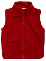 cheap -girls fleece vest warmth high neck western warm sleeveless jacket 8-9t red