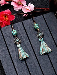 cheap -Girls' Earrings Tassel Fringe Vintage Sweet Fashion Cute Earrings Jewelry Bronze For Birthday Gift Date