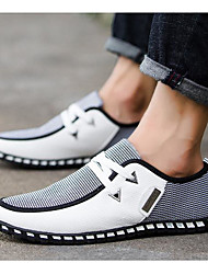 cheap -Men's Sneakers Comfort Shoes Casual Daily Linen Warm Wear Proof White Black Blue Color Block Fall Spring