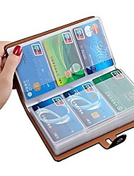 cheap -rfid credit card holder, leather business card organizer with 96 card slots, credit card protector for managing your different cards and important documents to prevent loss or damage &