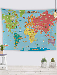 cheap -Wall Tapestry Art Decor Blanket Curtain Picnic Tablecloth Hanging Home Bedroom Living Room Dorm Decoration Polyester World Map Navigation