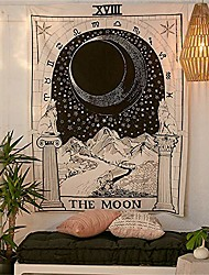 """cheap -tarot tapestry, art wall tapestry home decoration mural tarot medieval tapestry living room & #40;the moon, 32""""x29""""& #41;"""
