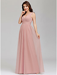 cheap -Women's Swing Dress Maxi long Dress - Sleeveless Solid Color Ruched Spring Summer V Neck Hot Elegant Formal Party Loose 2020 Blushing Pink Dusty Blue S M L XL XXL 3XL 4XL