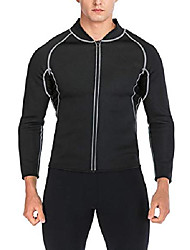 cheap -fut men sweat neoprene weight loss sauna suit workout shirt body shaper fitness jacket gym top clothes shapewear long sleeve