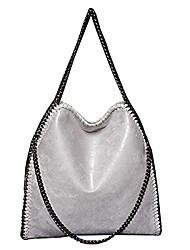 cheap -jothin shopping crossbody bag fashion large tote bag soft pu leather shoulder bag waterproof chain bag light women handbags (black)