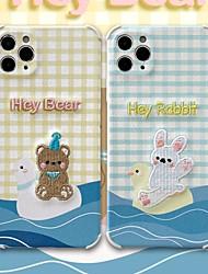 billige -etui til iphone 11 mønster bagcover linjer bølger dyr tegneserie tpu etui til iphone 11 pro max / se2020 / xs max / xr xs 7/8 7/8 plus