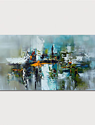 cheap -Oil Painting Hand Painted Horizontal Abstract Modern Stretched Canvas