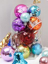 cheap -60 Pcs Random Christmas Balls Ornaments for Xmas Tree - Shatterproof Christmas Tree Decorations Hanging