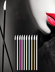 cheap -100 Pcs lip brush stick disposable lipstick brush lip film brush lip glaze brush portable makeup brush eyeliner lip gloss lipstick