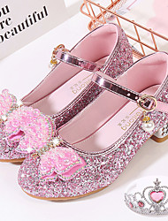 cheap -Princess Shoes Masquerade Girls' Movie Cosplay Sequins Blue Pink Silver Shoes Children's Day Masquerade
