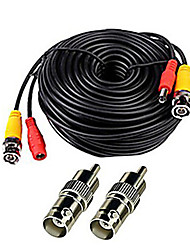 cheap -Cables 1Pcs 100ft Video Power Cables BNC RCA with Bonus Connectors for Security Systems 3000cm