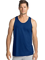 cheap -Men's Tank Solid Color Daily Wear Tops Cotton Navy White Black