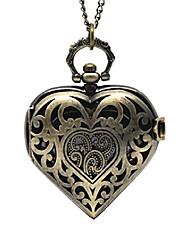 cheap -antique bronze color hollow heart shape pocket watch (1)