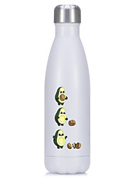 cheap -Avocado 500ML Stainless Steel Water Bottle Double-Wall Vacuum Flask Thermos for Sport Hiking Coffee Keep Hot/Cold Bowling