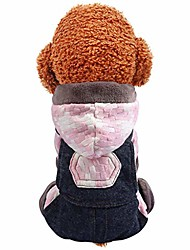 cheap -wakeu pet clothes for small dog winter hoodie sweater jacket with bib pants autumn pet puppy holiday clothing sweatshirt jumpsuit warm coat for cold weather walking outdoor home