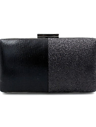 cheap -Women's Bags Polyester PU Evening Bag Solid Color Handbags Wedding Event / Party Black