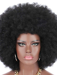 cheap -Synthetic Wig Curly Afro Curly Asymmetrical Wig Short Black Synthetic Hair Women's Classic Cool Black