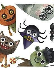 cheap -33*36cm New Cartoon Halloween Monster Sticker Self Adhesive Wall Stickers Creative Children's Room Door Window Wall Decoration