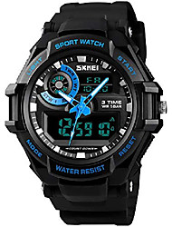 cheap -mens multifunction waterproof analog digital watches lcd alarm stopwatch date rubber strap military sports led wrist watch (blue)