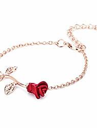 cheap -rose bracelet adjustable bangle women gifts for mom,rose gold color