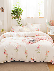 cheap -Pink Floral Print 3 Pieces Bedding Set Duvet Cover Set Modern Comforter Cover Ultra Soft Hypoallergenic Microfiber and Easy Care(Include 1 Duvet Cover and 1 or2 Pillowcases)