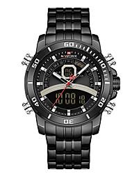 cheap -NAVIFORCE Men's Sport Watch Quartz Modern Style Sporty Outdoor Calendar / date / day Analog - Digital Black Blue Gold / Two Years / Stainless Steel / Japanese / Chronograph / Luminous