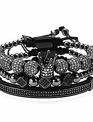 cheap -crown king beads bracelet gold imperial charm bangle bracelet for men women 8mm