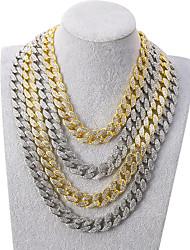 cheap -Men's Necklace Cuban Link Friends Hip Hop Alloy Gold Silver 55 cm Necklace Jewelry For Street