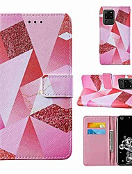 cheap -Case For Samsung Galaxy Note 20 Galaxy Note 20 Ultra Galaxy A21s Wallet Card Holder with Stand Full Body Cases Pink Diamond PU Leather TPU for Galaxy A51 5G Galaxy A71 5G Galaxy S20 Ultra