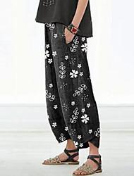 cheap -Women's Basic Loose Chinos Pants Print Black Red Light gray