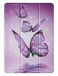 cheap -Case For Apple iPad 5 (2017) 9.7'' iPad 6 (2018) 9.7'' iPad 7 (2019) 10.2'' with Stand Flip Pattern Full Body Cases Purple Butterfly PU Leather TPU for iPad 8 (2020) 10.2'' iPad Pro (2020) 11''