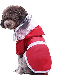 cheap -Dog Cat Rain Coat Solid Colored Unique Design Dog Clothes Puppy Clothes Dog Outfits Red Costume for Girl and Boy Dog Polyester S M L XL XXL 3XL