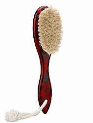 cheap -barber fade brush for man, professional barber duster brush & cleaning brush, men beard brush, wooden handle brush (red camo)