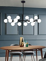 cheap -16 Bulbs 100 cm Post-Modern Chandelier for Kitchen Living Room Home Lighting Bronze Gold Black G4 Bulbs Included Matte Glass Shapes