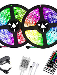 cheap -(2x5M)10M 32.8ft LED Light Strips RGB Tiktok Lights 2835 600leds 8mm Strips Lighting Flexible Color Changing with 44 Key IR Remote Ideal for Home Kitchen Christmas TV Back Lights DC 12V