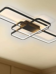 cheap -104cm LED 3-Light Linear Flush Mount Light Aluminum Geometric Modeling Pattern 70W Painted Finishes Dimmable With Remote Control Warm White Cold White