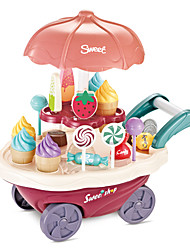 cheap -Ice Cream Cart Toy Toy Car Toy Food / Play Food Ship Ice Cream Simulation Plastics Plastic Kid's Boys' Girls' Toy Gift 1 pcs