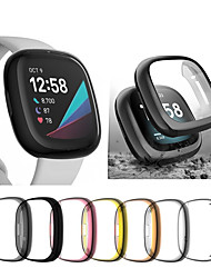 cheap -Anti Ultra thin Electroplated Soft TPU Case Full Cover Screen Protector Watch Accessories Shell for Fitbit Versa 3 Fitbit Sense