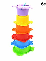 cheap -kids toys, 6pcs/set marine fish animal colorful stacking cups baby bath intelligent toy puzzles & magic cubes perfect fun time play activity gift for boys girls, 6pcs