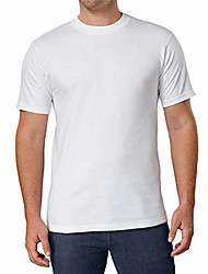 cheap -men's crew neck t-shirts 100% cotton (pack of 6) (white, small)