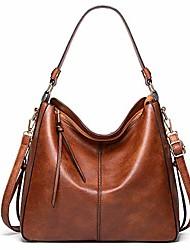 cheap -handbags for women hobo bags ladies fashion shoulder bags classic designer work woman bucket bags soft vegan leather purses (y brown)