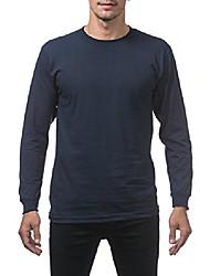 cheap -men's comfort cotton long sleeve t-shirt, navy, 4x-large