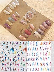cheap -Nail Art Ink Smudge Stickers Playful Graffiti Cute Nail Decals Fresh Children's Nail Stickers