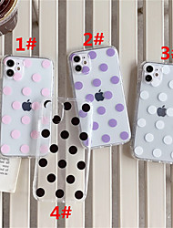 cheap -Case For Apple scene map iPhone 11 11 Pro 11 Pro Max polka dot pattern high permeability TPU material air pressure drop-resistant mobile phone case