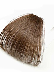 cheap -clip in bangs synthetic hair extensions one piece in fringe natural flat air bangs for women (no temples, light brown)