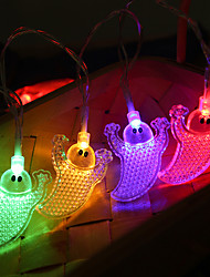 cheap -Halloween Party Toys LED Lighting String Lights 2 pcs Ghost Pumpkin Spiders Bat Plastic Trick or Treat Halloween Party Favors Supplies