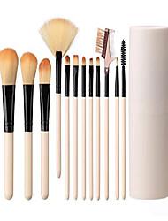 cheap -makeup brush sets 12 pcs makeup brushes travel makeup brush set eye shadow brush, foundation brush, blush brush and other cosmetic tools& #40;rose& #41;