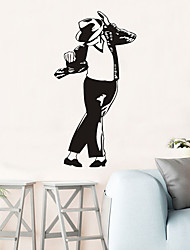 cheap -Famous Wall Stickers People Wall Stickers Decorative Wall Stickers, PVC Home Decoration Wall Decal Wall / Window Decoration 1pc