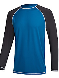 cheap -men's swim shirts rashguard sun shirt upf 50 uv sun protection outdoor long sleeve t-shirt swimwear